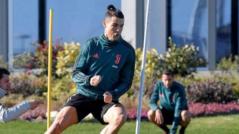 Cristiano regresa a los entrenamientos con la Juventus